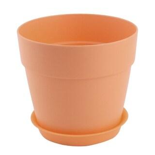 Office Plastic Desktop Decor Planting Plant Flower Holder Pot Flowerpot Brown