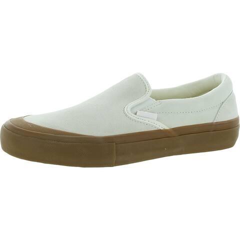 Vans Mens Pro Skate Shoes Suede Slip-On - Marshmallow/Gum - 7 Medium (D)