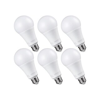 6 Pack Dimmable LED A21 Bulb, 2700K
