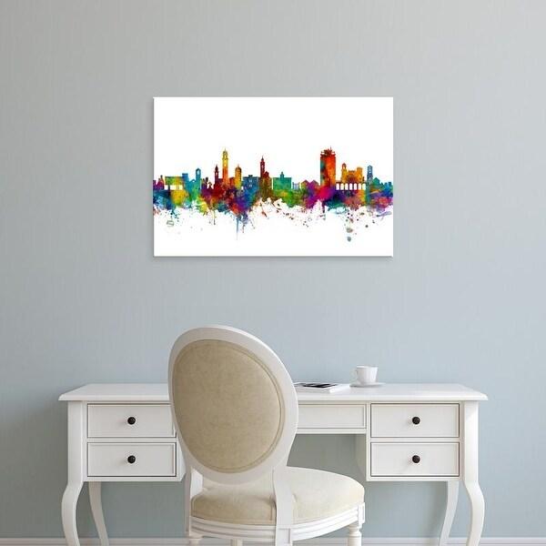 Easy Art Prints Michael Tompsett's 'Lugano Switzerland Skyline' Premium Canvas Art