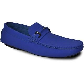 BRAVO Men Casual Shoe TODD-1 Driving Moccasin Royal Blue