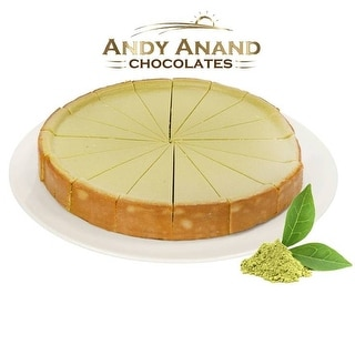 """Andy Anand Green Tea Cheesecake 9"""" (2 lbs) With Greeting Card"""