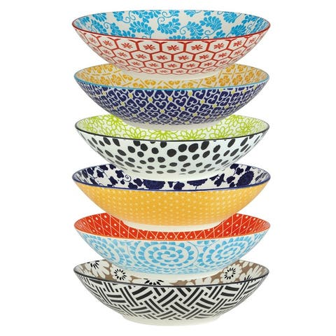 Certified International Chelsea All Purpose Porcelain Bowls (Set of 6)