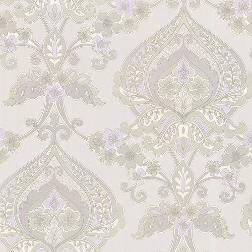 Brewster 450-67365 Ashbury Lavender Paisley Damask Wallpaper