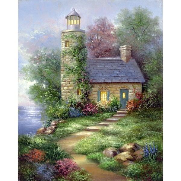 "Acrylic Paint Your Own Masterpiece Kit 11""X14""-Romantic Lighthouse"