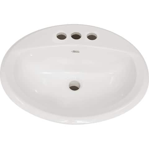 "American Standard 0475.020 Aqualyn 20-3/8"" Drop In Porcelain Bathroom"