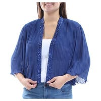 Womens Blue Bolero Jacket  Size  18W