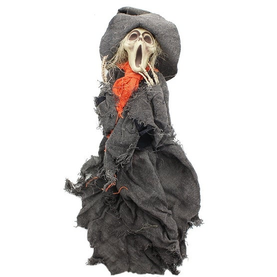 "Hanging Ghoul 20"" Grey Robe/Witch Hat"
