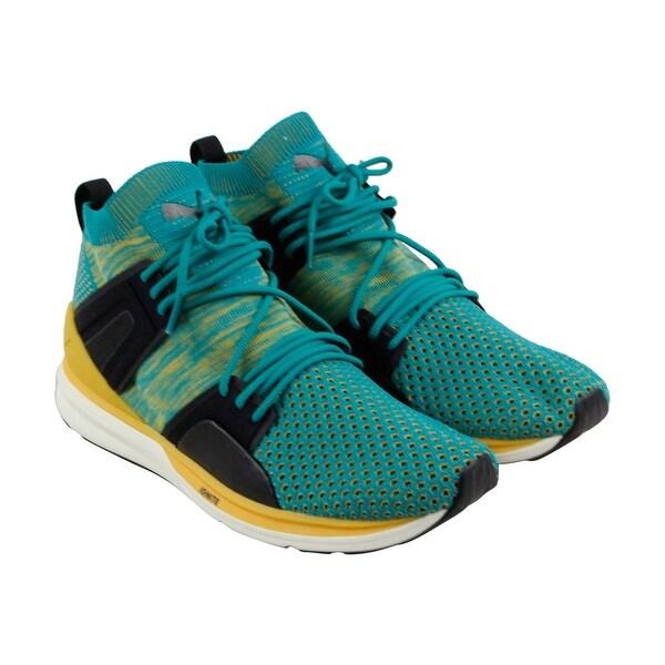 Puma B.O.G Limitless Hi Evoknit Mens Blue Textile Athletic Training Shoes