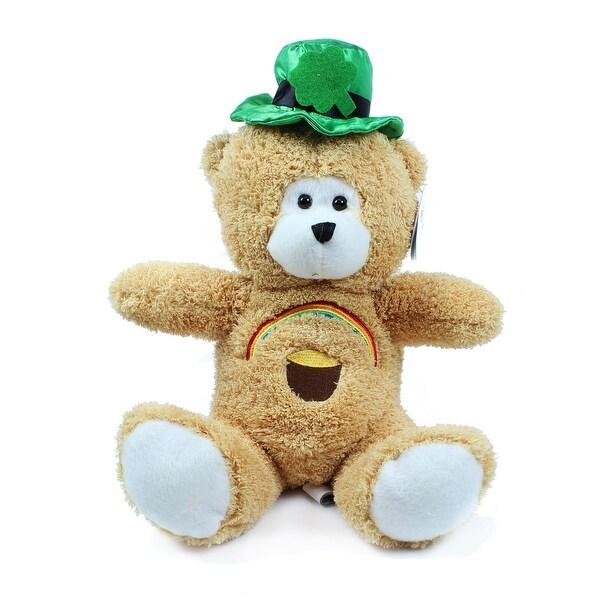 Beverly Hills Teddy Bear Co. St. Patrick's Day Bear with Rainbow