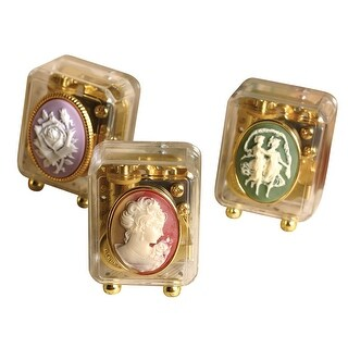 Victorian Trading Co. Cameo Music Boxes Collection - Set of 3 Keepsakes - MultiColor - 2.5 in.