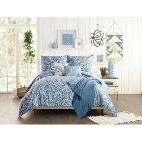 Jessica Simpson Tonal Damask 6 Piece Comforter Set
