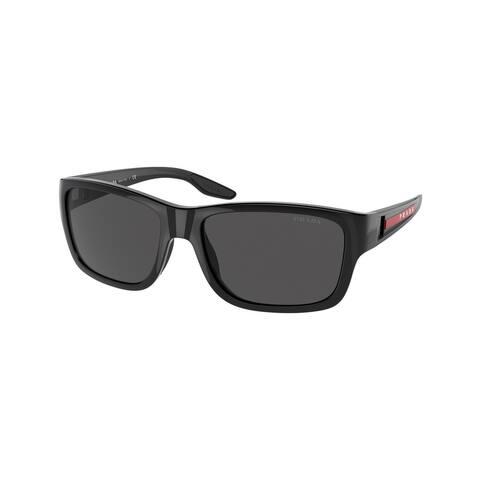Prada Linea Rossa PS 01WS 1AB06F 59 Black Man Pillow Sunglasses