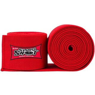 Sling Shot World Record Level 4 Elastic Weightlifting Support Knee Wraps - Red
