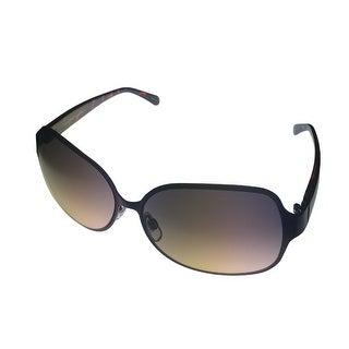 Ellen Tracy Sunglass 509 3 Gunmetal Modifed Rectangle , Smoke Gradient Lens