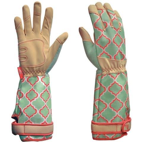 Digz 7626-26 Rose Picker Gardening Gloves, Green
