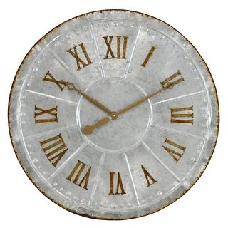 Aspire Home Accents 4851 Lambert 28 1/2 Inch Diameter Oversized Analog Wall Mounted Clock - n/a