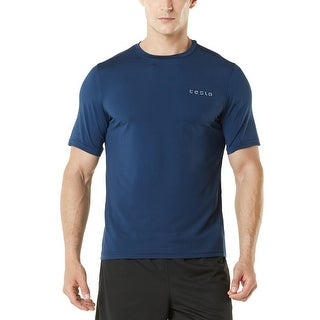 Tesla MTS04 HyperDri Short Sleeve Athletic T-Shirt - Solid Navy (4 options available)