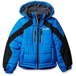 London Fog Boys 4-7 Fog Panel Puffer Jacket - Blue
