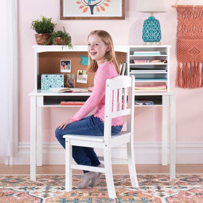 Guidecraft Media Desk Kid's Desk and Hutch with Chair