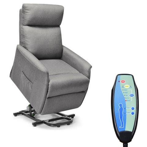 Costway Electric Power Lift Massage Chair Recliner Sofa Fabric Padded