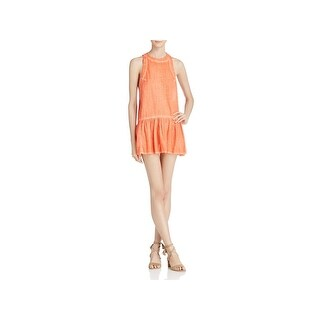 Free People Womens Mini Dress Ruffled Sleeveless