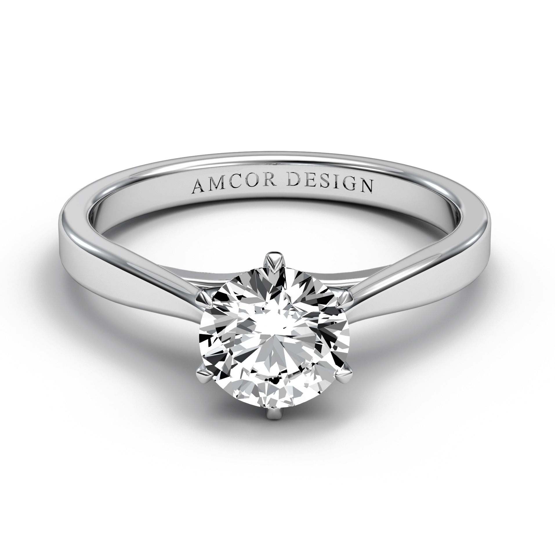 Shop 14kt Gold 1 2 Carat Diamond Engagement Ring Round 6 Prong Solitaire On Sale Overstock 29813540