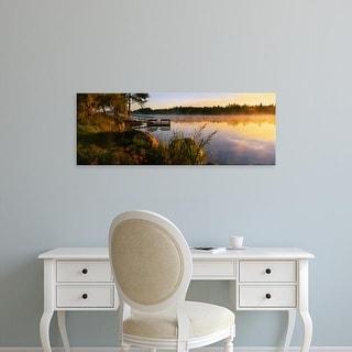 Easy Art Prints Panoramic Images's 'Reflection of sunlight in water, Vuoksi River, Imatra, Finland' Premium Canvas Art