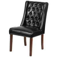 Delacora FF-QY-A91-LEA 21.5 Inch Wide Leather Accent Chair