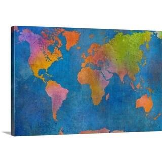 Cora Niele Premium Thick-Wrap Canvas entitled World Map I