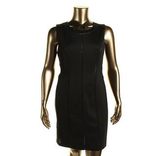 Calvin Klein Womens Perforated Sleeveless Cocktail Dress - 10