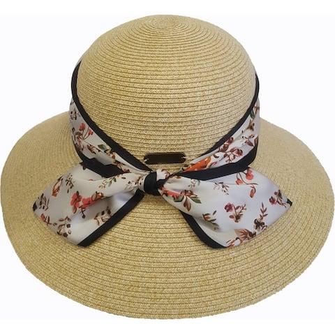 Womens hand sewn straw braid sun protective floppy hat