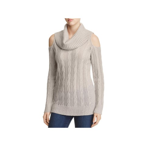 Design History Womens Pullover Sweater Cable Knit Cowl Neck