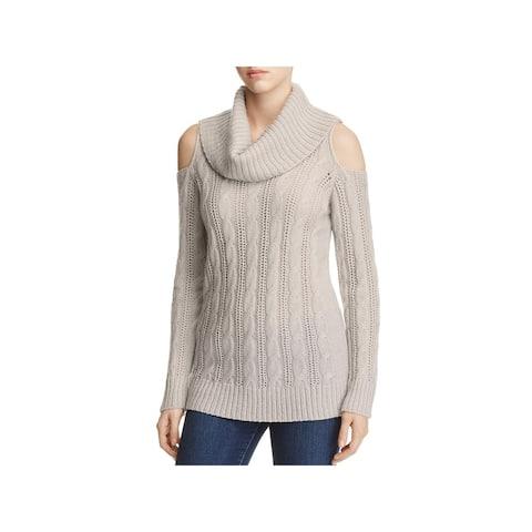 f2e31f508e3 Design History Womens Pullover Sweater Cable Knit Cowl Neck