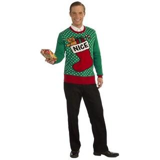 Nice Stocking Ugly Christmas Sweater Adult
