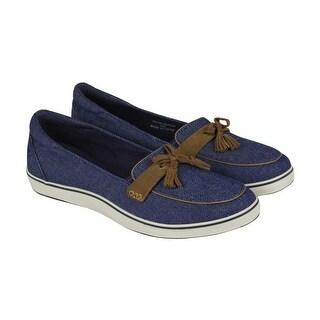 Grasshopper Highview Seasonals Womens Blue Denim Casual Loafers Shoes