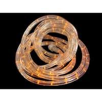 18' LED Sunrise Orange Christmas Rope Lights