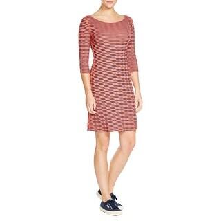 Three Dots Womens Casual Dress Modal Blend Striped