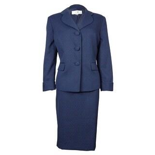Le Suit Women's Polka Dot Cozumel Skirt Suit - 2p