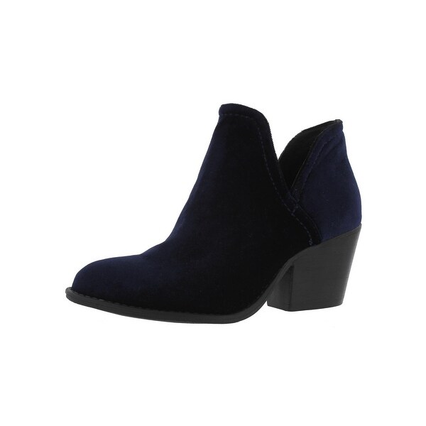 Steve Madden Womens Adelphiv Booties Velvet Cut-Out