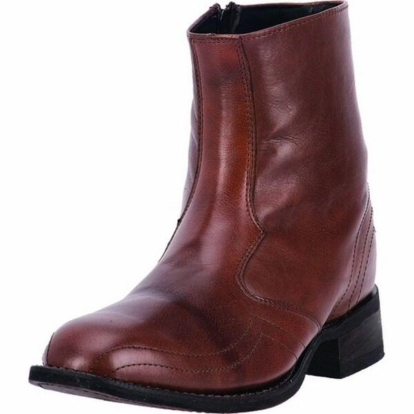 "Laredo Western Boots Mens Cowboy 7"" Cowboy Zipper Brick"