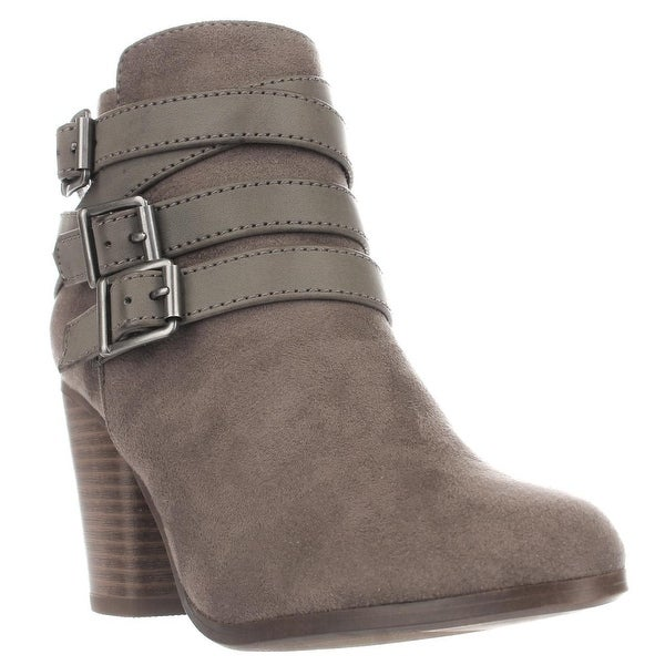 MG35 Minah Multi Buckle Strap Ankle Boots, Taupe