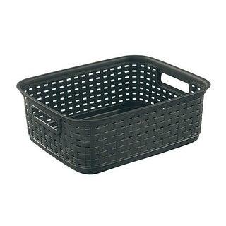 Sterilite 12726P06 Short Weave Basket, Brown, Plastic