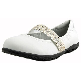 Softwalk High Point Flat Women WW Round Toe Leather White Mary Janes