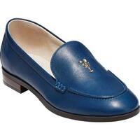 Cole Haan Women's G.Os Pinch Lobster Loafer Navy Peony Leather