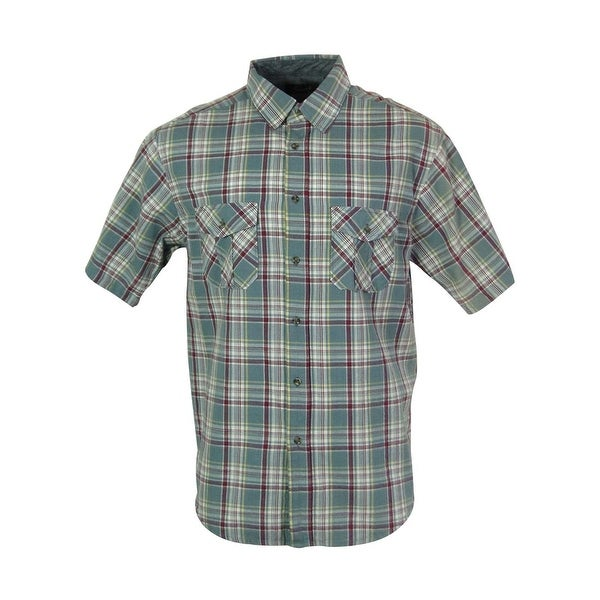 208eec99c Shop Casuals By Roundtree & Yorke Men's Front Buttoned Plaid Shirt ...