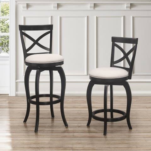 The Gray Barn Portree Black Swivel Stool