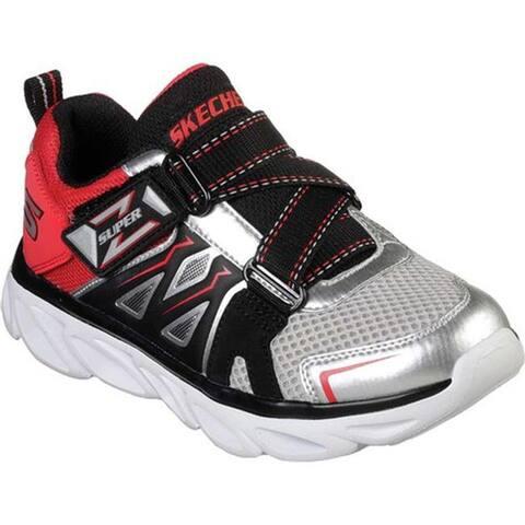 debaaa1b6a113 Skechers Boys' S Lights Hypno-Flash 3.0 Swiftest Z-Strap Sneaker Silver/