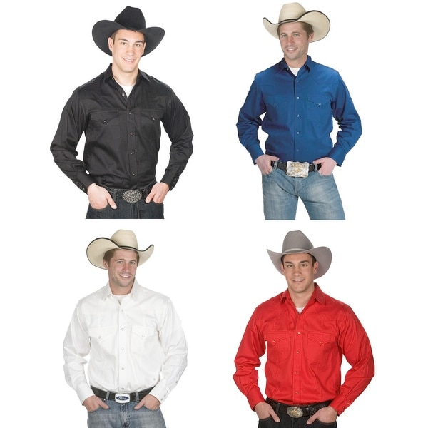 Men's Button Down 100% Cotton Western Cowboy Shirt