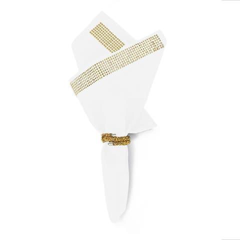 Sparkles Home Rhinestone Napkin (Set of 2) - White & Gold